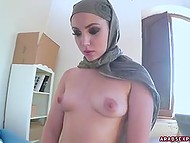 Muslim with extended eyelashes strips down, takes dick in mouth and licks anal hole 8
