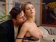 Polish secretary Sara Nice with huge boobs fulfills vicious desires of her German boss 6