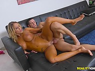 Young dude easily released sexual tension of hypnotizing MILF with great coconuts 10