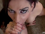 When a man wants a good blowjob then he can't to find somebody better than Latina Daisy Cruz 9