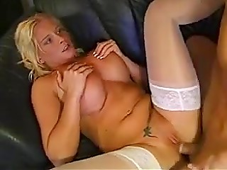 Firm dick invades warm pussy and tight asshole of big-boobied blonde girl from Finland