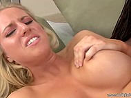 Flaxen-haired lady talked too much and was mercilessly impaled on big black cock for that 10