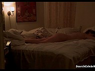 Scene of sexual act with sleeping brunette girl in fragment of a full-length movie 9
