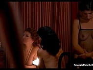 Decent brunette gets acquainted with lifestyle of a luxurious brothel in vintage movie 4