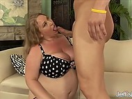 Restless BBW Sienna Hills in fishnet stockings was finally tamed by the skilled fucker