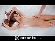 Relaxing massage and naughty games with vibrator turned into passionate sex 4