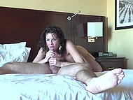 Big-breasted lady got rid of lust only after awesome anal and tasting fresh cum