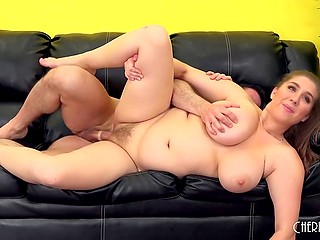 Awesome maiden gets fucked by stallion and allows him to cum on her humongous hooters