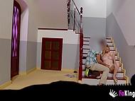 Блондиночка только въехала в отель и тут же совратила славного паренька, чтобы избавиться от похоти 6