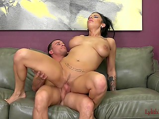 Stacked MILF erotically removed fashioned lingerie and let boy's hard device take care of vagina