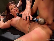 MILF got into hands of hungry men, who fucked her toughly somewhere in abandon cellar 7