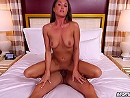 Good-looking woman gets an opportunity to fulfill her fantasy and she has sex on camera