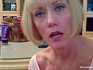 Guy pervaded into the house of mature housewife and fucked her in doggystyle 7
