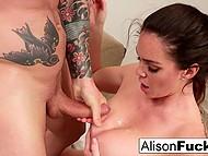 Corpulent MILF with juicy boobs during rendezvous enjoys lover's cock deep in her twat 11