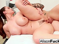 Corpulent MILF with juicy boobs during rendezvous enjoys lover's cock deep in her twat 5