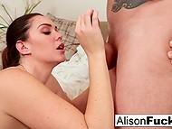 Corpulent MILF with juicy boobs during rendezvous enjoys lover's cock deep in her twat 8