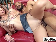 Bearded man had fucked small-tittied Latina and emitted cum over face before revealing little secret