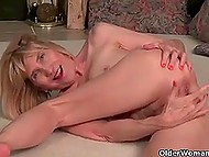 Old and skinny females aren't shy about tickling lustful holes during solo performances on camera