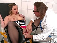 Cock treatment from lecherous doctor was the thing that German patient with pierced nipple liked too much