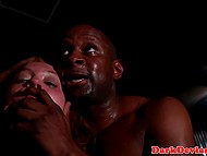 Interracial hardcore scene with tough man hammering Maddy O'Reily like a fucking whore 11