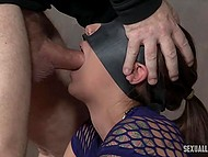 Compilation of BDSM scenes with gals getting banged really hard and giving deepthroat blowjob 5