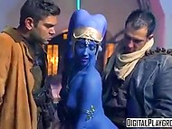Pirates of the Galaxy were punished for taking blue-skinned alien in sexual slavery 4