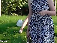 Glamour pervert from Russia Jeny Smith secretly flashes her pussy and strong buttocks on camera in public places 5
