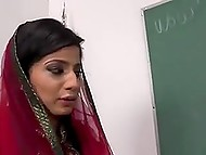 Seductive Arab teacher can't escape from group of black students, who pull huge dicks out to fuck her 4