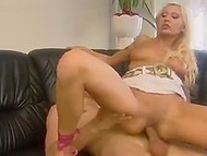 Hot to trot Italian blonde cheers sad boyfriend up presenting him tight anal hole for fuck 11