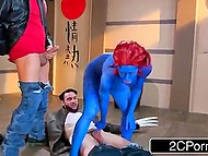 Cyclops helps Wolverine to defeat Mystique and she quickly makes amends for her behavior 8