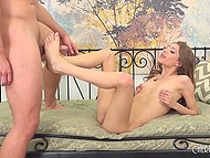 Curly babe Rebel Lynn actively rode excited dick but still couldn't bring male to ejaculation 4