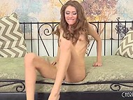 Curly babe Rebel Lynn actively rode excited dick but still couldn't bring male to ejaculation 5