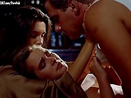 Scene of passionate group sex from retro movie 'La Bonne' featuring Florence Guerin and Trina Michelsen