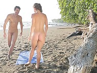 Charming Spanish Julia Roca splashed in sea then took ride on nice guy's dick on beach 8