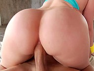 Teenage honey with huge buttocks doesn't mind to have rough anal sex for stress relief 6