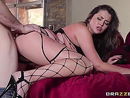 Man's cock turned out to be better than Allie Haze's husband and she desired to be assfucked 4