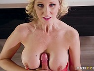 Stepson complained that he was born to be virgin but MILF Julia Ann with big boobies helped him to become a man 5