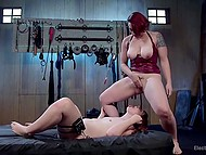 Red-haired beauties play BDSM games and get the wildest orgasms from their pervert affairs 8