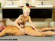 Hairless client will remember skinny blonde Elsa Jean for oil massage and good fucking 4