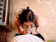 Busty brunette tried to bake biscuits but got distracted by persistent dude that brought thick cock into play 5