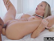 Big-boobied blonde Samantha Saint couldn't say black hip-hop artist 'No' and was fucked