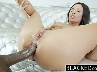 High-quality porn video starring fiery French pornstar getting her little anal hole rammed by BBC