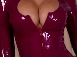 Asian shemale with big boobs changes latex clothes one by one in awesome compilation