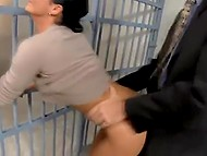 Detective fucks well-figured Romanian MILF in anal hole instead of pledge for her husband in prison 10