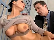 Detective fucks well-figured Romanian MILF in anal hole instead of pledge for her husband in prison 5