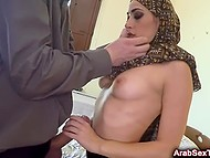 Man in classic suit pays visit to seductive Arab lover and takes her cunny in doggystyle 8