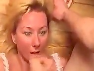 Lustful man stretches Danish housemaid's vagina as wide as Coca-Cola bottle fits inside it easily 11