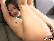 It's no wonder that raunchy Japanese girl gets double penetrated after presenting double blowjob 5