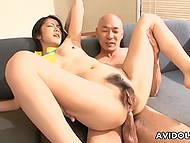 It's no wonder that raunchy Japanese girl gets double penetrated after presenting double blowjob 8