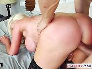 Lady let husband fuck great-breasted girlfriend Nikki Benz as an excuse for cheating 10